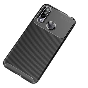 AMZER Rugged Armor Carbon Fiber Design ShockProof TPU for LG W30 - Black
