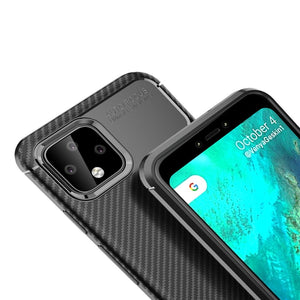 AMZER Rugged Armor Carbon Fiber Design ShockProof TPU for Google Pixel 4XL - Black