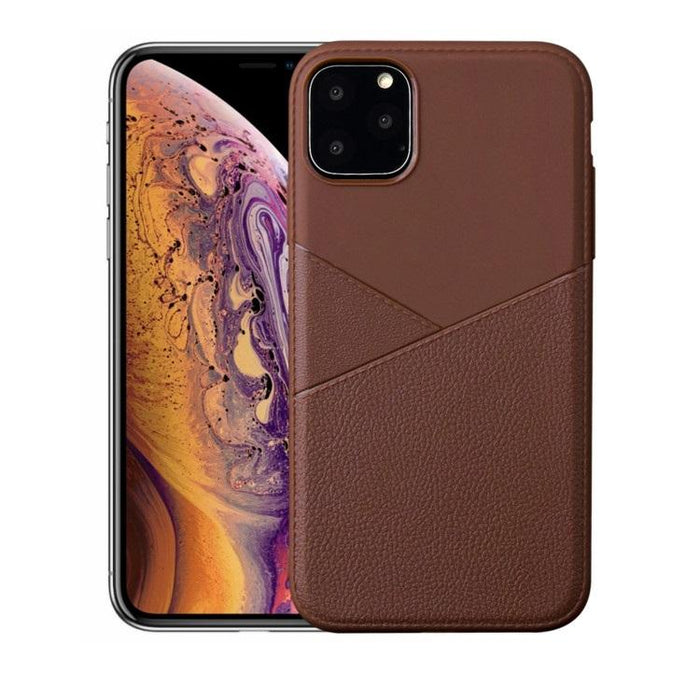AMZER Shockproof Soft TPU Leather Protective Case for iPhone 11 Pro Max