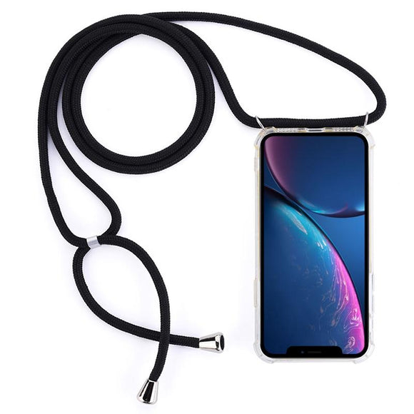 AMZER Pudding TPU Soft Skin X Protection Case With Lanyard for iPhone 11 - Clear - fommystore