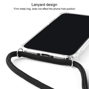 AMZER Pudding TPU Soft Skin X Protection Case With Lanyard for iPhone 11 Pro Max - Clear - fommystore
