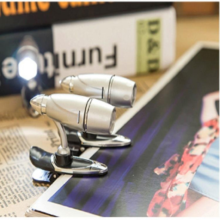 Portable 2 PCS Super Bright Bullet Light Mini Clip Design Reading Desk Lamps - fommystore