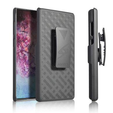AMZER Shellster Hard Case With Kickstand for Samsung Galaxy Note 10+ - Black