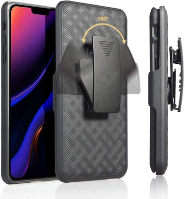 AMZER Shellster Hard Case With Kickstand for Apple iPhone 11 Pro - Black