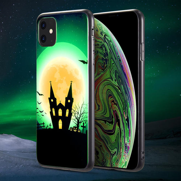 AMZER Halloween Special Glow In Dark Crystal Case - Haunted Castle for iPhone 11 - fommystore