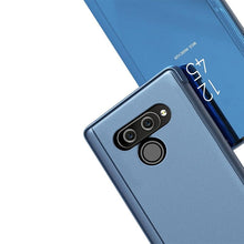 Load image into Gallery viewer, AMZER Mirror Plating Left/ Right Flip Cover with Bracket Holster for LG K50 - Blue - fommystore
