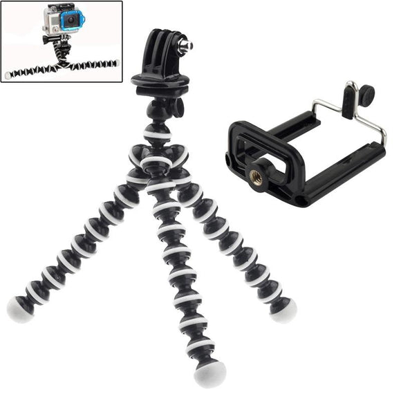 Flexible Tripod with Camera Mount Adapter