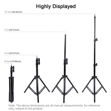 Load image into Gallery viewer, AMZER Extendable 20 - 43 Inch Metal Tripod Mount for Vlogging Video Light Live Broadcast