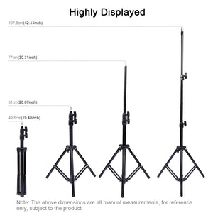 AMZER Extendable 20 - 43 Inch Metal Tripod Mount for Vlogging Video Light Live Broadcast
