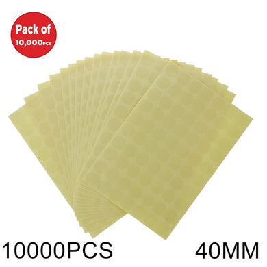 AMZER Round Shape PVC Self-adhesive Sealing Sticker - 10000 Pcs - fommystore