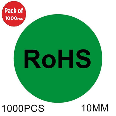 AMZER Round Shape RoHS Label Self-adhesive Sticker - 1000 Pcs - fommystore