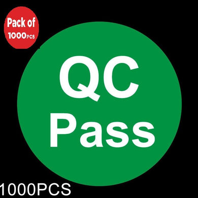 AMZER Round Shape QC Pass Label Self-adhesive Sticker - 1000 Pcs - fommystore