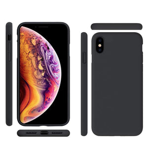 AMZER Shockproof Silicone Skin Jelly Case for iPhone X/ iPhone XS - Black