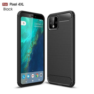 AMZER Shockproof TPU Case With Carbon Fiber Design for Google Pixel 4XL - Black