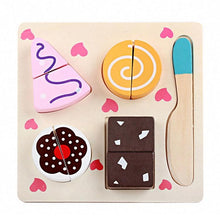 Load image into Gallery viewer, AMZER Children Wooden Cutting Fruits and Vegetables Kitchen Pretend Game/ Educational Toys