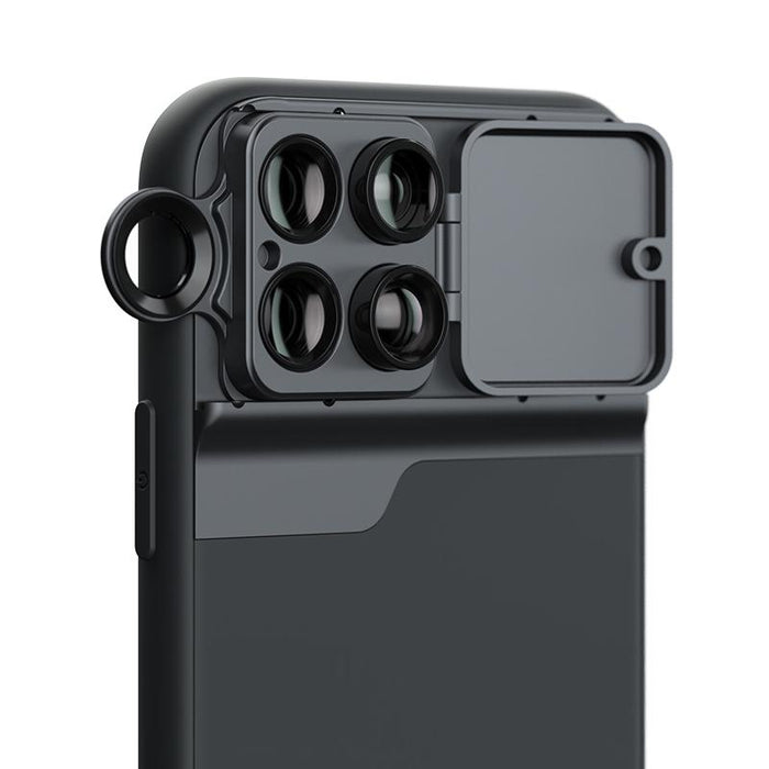 AMZER Wide Angle Macro Lens Telephoto CPL Protective Case for Apple iPhone 11 Pro