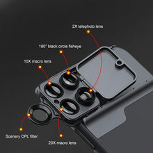 Load image into Gallery viewer, AMZER Wide Angle Macro Lens Telephoto CPL Protective Case for Apple iPhone 11 Pro
