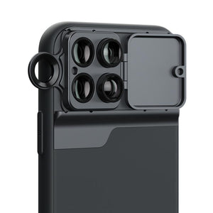 AMZER Wide Angle Macro Lens Telephoto CPL Protective Case for Apple iPhone 11 Pro Max