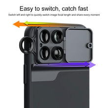 Load image into Gallery viewer, AMZER Wide Angle Macro Lens Telephoto CPL Protective Case for Apple iPhone 11 Pro Max