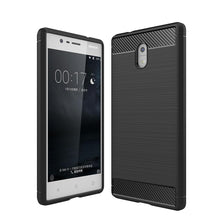 Load image into Gallery viewer, AMZER Rugged Shockproof TPU Case With Carbon Fiber Design for Nokia 3 - Black