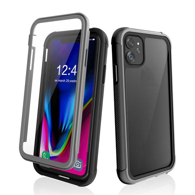 Shockproof Ultra-Thin Hybrid TPU + PC Protective Case - Black for  Apple iPhone 11