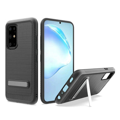 AMZER Hybrid Protector Case With Magnetic Stand for Samsung Galaxy S20 Plus - Black