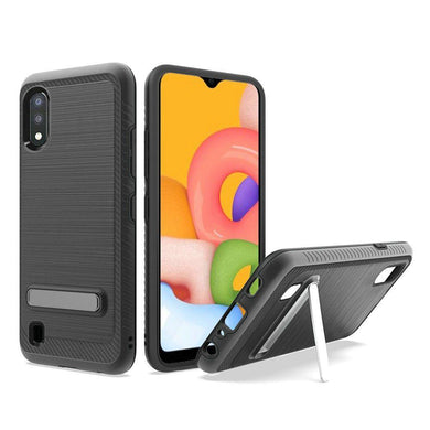 AMZER Hybrid Protector Case With Magnetic Stand for Samsung Galaxy A01 - Black
