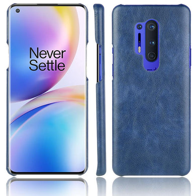 AMZER Shockproof Leather Texture PC + PU Protective Case for OnePlus 8 Pro - Blue