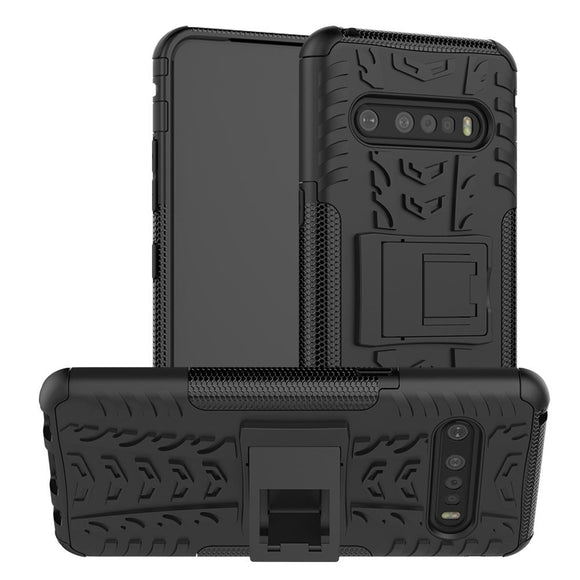 AMZER Hybrid Warrior Kickstand Case for LG V60 ThinQ