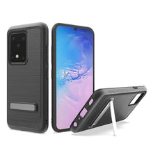 Load image into Gallery viewer, AMZER Hybrid Protector Case With Magnetic Stand for Samsung Galaxy S20 Ultra - Black