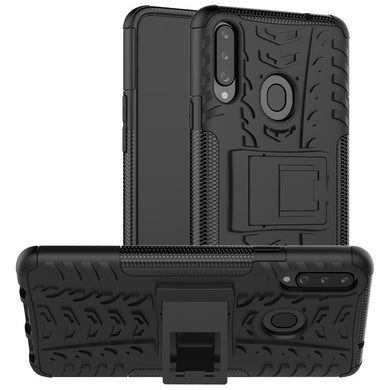 AMZER Hybrid Warrior Kickstand Case for Samsung Galaxy A20s