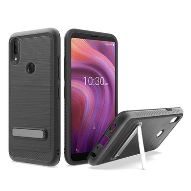 AMZER Hybrid Protector Case With Magnetic Stand for Alcatel 3V (2019)