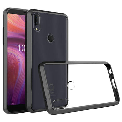 AMZER Shockproof Bumper Hybrid Case for Alcatel 3V (2019) - Black