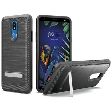 AMZER Hybrid Protector Case With Magnetic Stand for LG K40/ Harmony 3 - Black