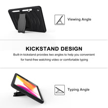 Load image into Gallery viewer, AMZER® Hybrid 360 Degree Rotation Kickstand Case With Pen Slot & Hand Strap - Black/ Black for Samsung Galaxy Tab S6 T860/ T865