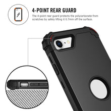 Load image into Gallery viewer, AMZER CRUSTA Full Body Hybrid Shockproof Case for  iPhone SE 2020 - Black