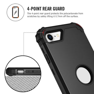 AMZER CRUSTA Full Body Hybrid Shockproof Case for  iPhone SE 2020 - Black