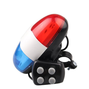 AMZER Bicycle 4 Tone Electronic Horn Mountain Bike LED Tail Light Bicycle Multi function Horn