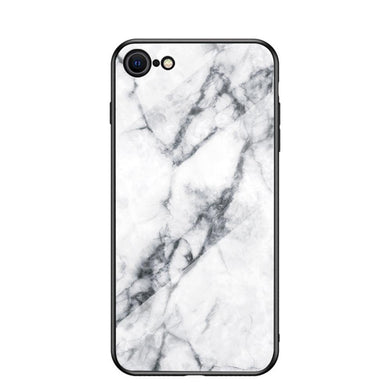 AMZER Tempered Glass Designer Case for iPhone 7/8, iPhone SE 2020 - White