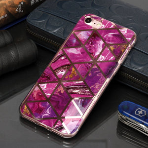 AMZER Marble Design Soft TPU Protective Case for iPhone 7/8, iPhone SE 2020