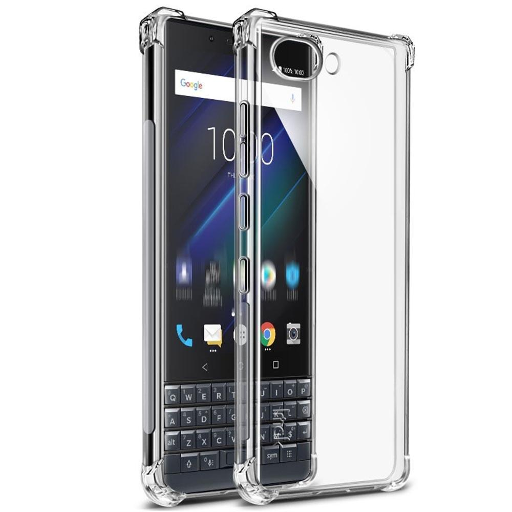 Premium  Shockproof Airbag TPU Case with Screen Guard Full Protection for BlackBerry KEY 2 LE - Clear