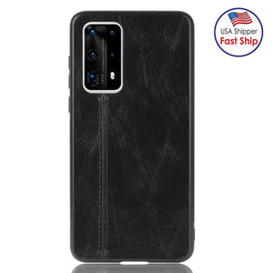AMZER  Shockproof Sewing Pattern Skin Case for Huawei P40 Pro Plus -  Black