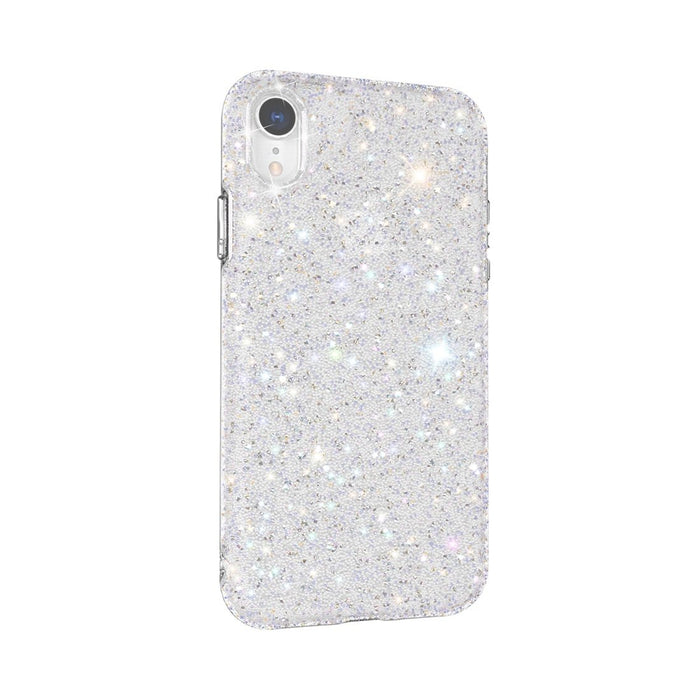 AMZER Rhinestone Diamond Collection Case for iPhone XR - Silver