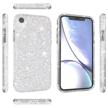 Load image into Gallery viewer, AMZER Rhinestone Diamond Collection Case for iPhone XR - Silver