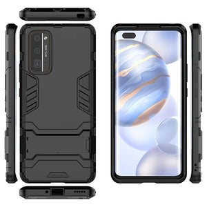 AMZER Hybrid Dual Layer Protective Case with Stand for Huawei Honor 30 Pro - Black