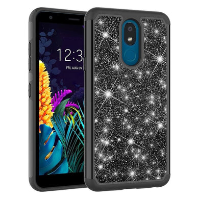 AMZER Shockproof Glitter Powder TPU Protective Case for LG K30 (2019)/Aristo 4 Plus