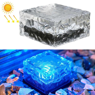 Solar Powered Square Tempered Glass Outdoor LED Buried Light Garden Decoration Lamp IP55 Waterproof