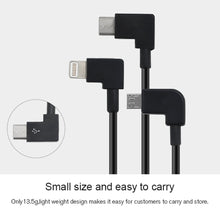 Load image into Gallery viewer, AMZER USB Type C to USB Type C Dedicated Connect Data Cable for DJI Mavic Air 2 - Black