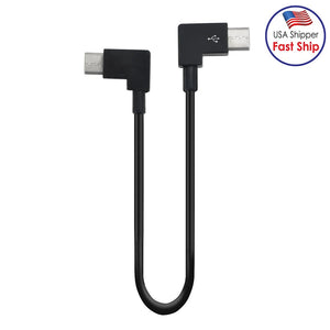 AMZER USB Type C to USB Type C Dedicated Connect Data Cable for DJI Mavic Air 2 - Black