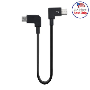 AMZER USB Type C to Micro USB Dedicated Connect Data Cable for DJI Mavic Air 2 - Black